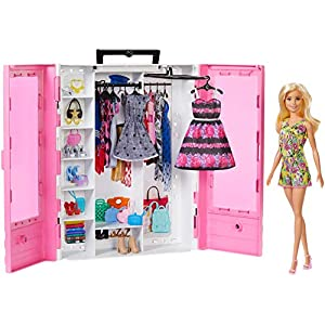 Best Epic Trends 51uPHCUlD2L._SS300_ Barbie Fashionistas Ultimate Closet Portable Fashion Toy with Doll, Clothing, Accessories and Hangars, Gift for 3 to 8…