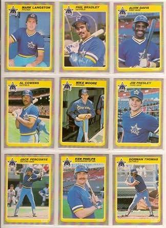 Amazoncom Seattle Mariners 1985 Fleer Baseball Team Set W Year