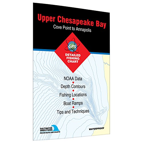 (Upper Chesapeake Bay-Cove Point to Annapolis Fishing Map)
