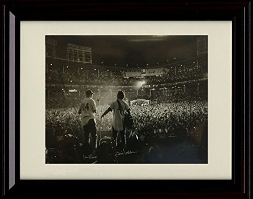 Framed Eddie Vedder & Ernie Banks Autograph Replica Print - Pearl Jam - All The Way - Chicago
