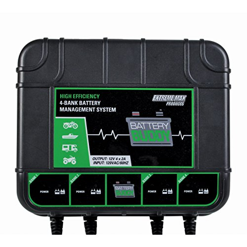 Extreme Max 1229.4023 Buddy 4-Bank Battery Charger/Maintainer