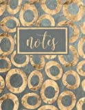 Notes: Notebook & Journal with Gold Circles on Grey (Volume 5)
