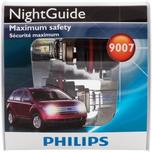 Philips 9007 NightGuide Replacement Bulb, (Pack of 2)
