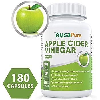 Amazon.com: Pure Apple Cider Vinegar 1250mg 180 Capsules
