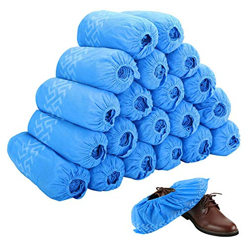 Disposable Boot & Shoe Covers 200 Pack (100 Pairs) | Non-Slip, Durable, Indoor | Protect Your Home, Floors and Shoes