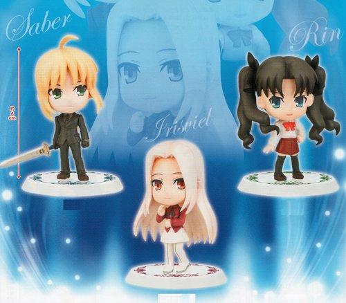 N Chibi Kyun Chara Fate / Zero Fate / Zero anime Banpresto 10TH ANNIVERSARY (all three full comp set (japan import) (Anime Chibi Figures compare prices)