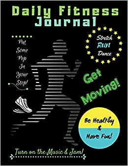 amazon daily fitness journal kids fun exercise guide log book for