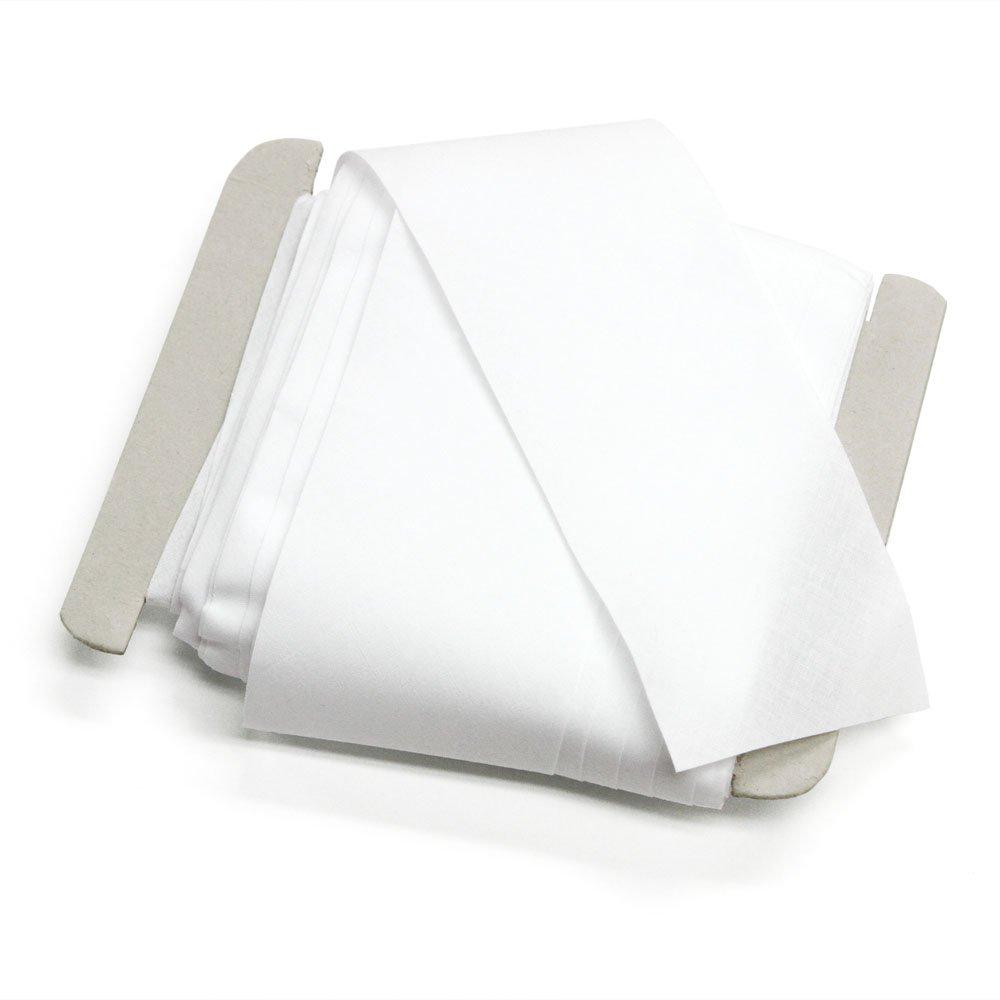 100% Cotton 3'' Flat White Bias Tape, 27 Yards, Made in Italy by Bias Bespoke