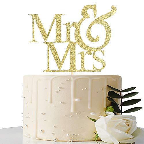 Mr and Mrs Cake Topper Bride And Groom Sign Wedding Engagement Cake Toppers Decoration