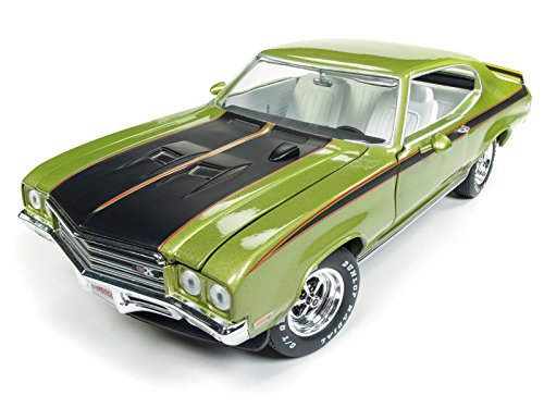 Machines Cars Muscle (1971 Buick Skylark GSX Limemist Green with White Interior