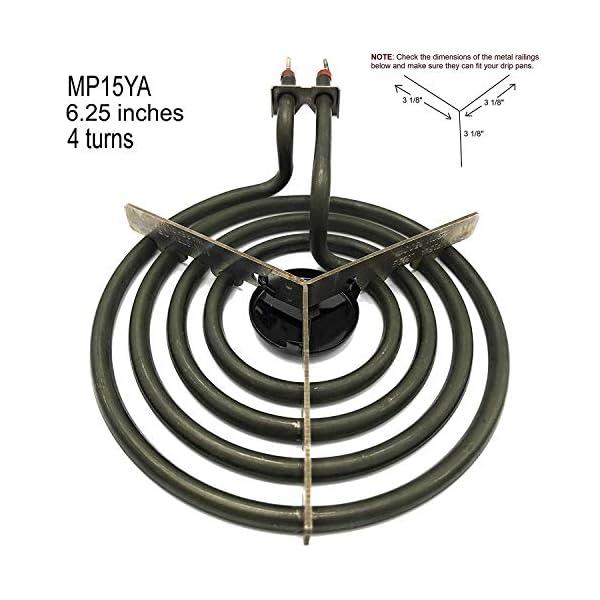 """Cooking Appliances MP22YA Electric Range Burner Element Unit Set 2- MP15YA 6.5"""" 2- MP21YA 8"""" 3"""