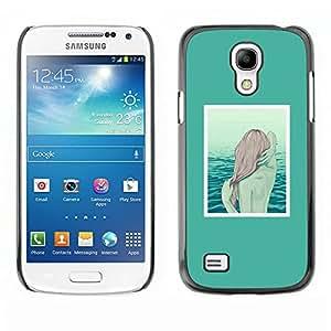 Caucho caso de Shell duro de la cubierta de accesorios de protección BY RAYDREAMMM - Samsung Galaxy S4 Mini i9190 MINI VERSION! - Mermaid Redhead Girl Art Sea Water