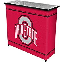 NCAA The Ohio State University Portable Shelf Bar with Carrying Case (2-Piece)