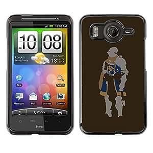 Caucho caso de Shell duro de la cubierta de accesorios de protección BY RAYDREAMMM - HTC G10 - Minimalist Knight