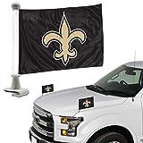 NFL New Orleans Saints Flag Set 2Piece Ambassador Stylenew Orleans Saints Flag Set 2Piece Ambassador Style, Team Color, One Size
