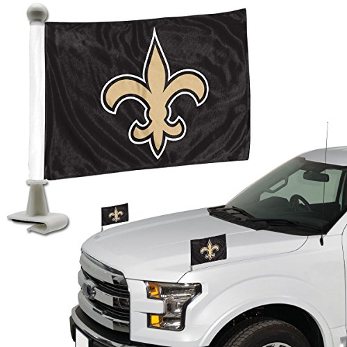 (NFL New Orleans Saints Flag Set 2Piece Ambassador Stylenew Orleans Saints Flag Set 2Piece Ambassador Style, Team Color, One Size)