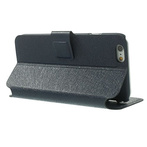 Apple iPhone 6/6S Sac Case Stand étui type Étui porte-cartes Bleu decui Bleu Étui de protection en cuir PU