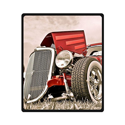 JIUDUIDODO Home Bedding & Beautiful Keep Warm Gifts Classic Cars Wallpaper Blanket 50 Inches x 60 Inches Sofa/Bed Used Gift for Family/Friend (Gift Basket Wellington)