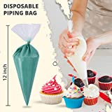 RICCLE Disposable Piping Bags 12 Inch - 100 Anti