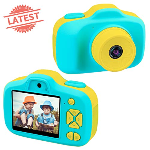 Joytrip Kids Digital Cameras Gifts for Boys HD 2.3 Inches Screen 8MP Video Camera for Kids Shockproof Children Selfie Toy Camera Mini Child Camcorder for Age 3-10 with Safe Material (Blue-Yellow)