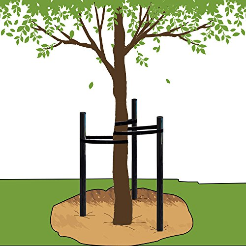 EasyPost Tree Stake Kit Include Tree Tie Garden Tree Support Stakes Young Trees/Fruit Trees/Palm/Cypress Protection 2.3