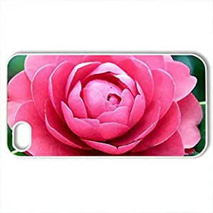 Camellia - Case Cover for iPhone 4 and 4s (Flowers Series, Watercolor style, White)