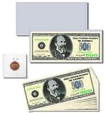 13pc. Novelty Money Gift Set featuring Casino / Poker Night $500 Dollar Bill