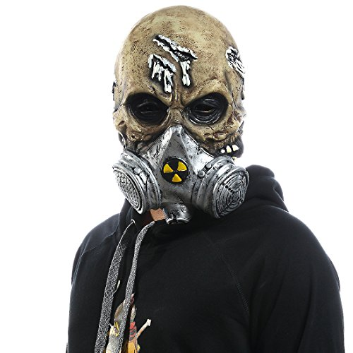 Mo Fang Gong She Halloween Resident Evil The Evil Dead Cosplay Props Scary Skeleton Gas Mask -