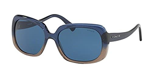 aeb8206769 Image Unavailable. Image not available for. Colour  Coach HC8178 Sunglasses  547480 Denim Taupe Glitter Gradient ...