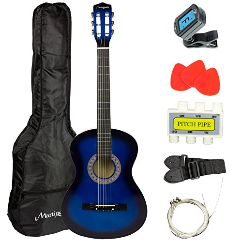Martin Smith W-38-BL Acoustic Guitar Pack, Blue by Martin Smith