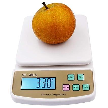 TYUCN 10Kg X 1g Digital Postal Frutas Cocina Contando la Dieta Balanzas balanzas electrónicas con retroiluminación
