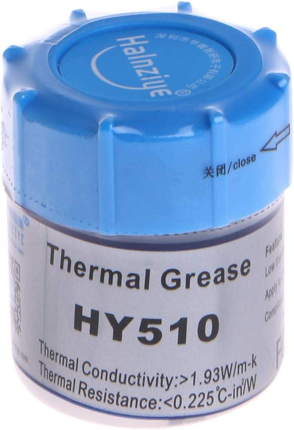 Yuanhaourty 10g HY510 Heat Sink Cooling Paste Gray Thermal Grease Compound Silicone CPU