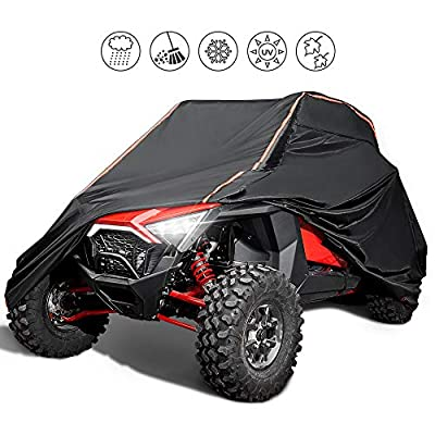 [Upgrade]UTV Cover Waterproof Heavy Duty Cover with Reflective Strip for Polaris RZR 1000 900 800 700 570 XP Turbo S Protect Your SxS Vehicle from Snow, Rain, Dirt, Dust and Sun UV Rays: Automotive