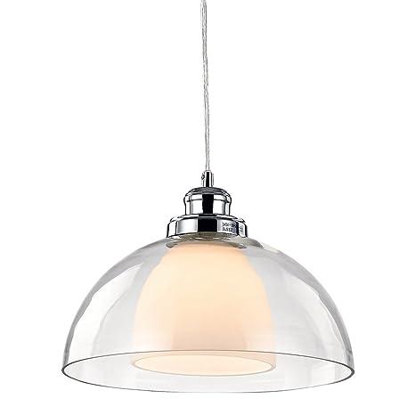 Lámpara de Techo Colgante Moderna, con Cristal Doble y Cable Transparente por Haysoms