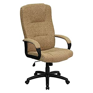 Flash Furniture High Back Beige Fabric Executive Office Chair