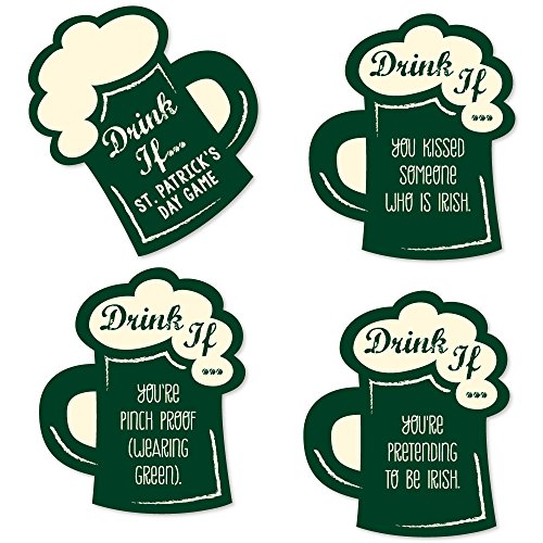 Drink If Game - St. Patrick's Day - Saint Patty's Day Party Game - 24 Count