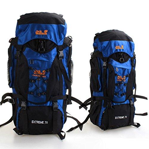 A prueba de agua bolsa de deporte al aire libre del alpinismo grandes de acero bolsa de senderismo mochila bandolera hombres y mujeres de montar cielo azul