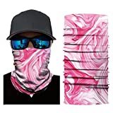 CapsA Face Mask for Men Women Novelty Bandanas Face Shield for Music Festivals Raves Riding Outdoors Cycling Motorcycle Head Scarf Neck Balaclava Headband Dust Protection Floral Print Face Mask