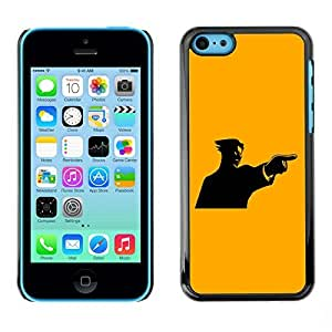 GagaDesign Phone Accessories: Hard Case Cover for Apple iPhone 5C - Yellow Mad Guy