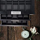30 Black Wood Personalized Watch Box Display Case 3