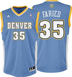 Kenneth Faried Jersey: adidas Revolution 30 Light Blue Replica #35 Denver Nuggets Jersey