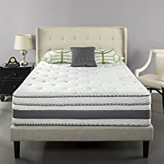 The Zinus 14 Inch Gel-Infused Memory Foam Hybrid Mattress provides the best combination of mattress technologies to give you the best night's sleep. The Swirl Gel Memory Foam layer ensures an ideal sleep temperature, the ViscoLatex layer adds...
