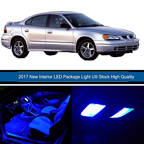 cciyu 9 Pack Blue LED Bulb Replacement fit for 1998-2008 PONTIAC GRAND PRIX LED Interior Lights Accessories Replacement Package (Pontiac Grand Prix Interior)
