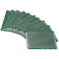 SODIAL(R) 10pcs Tablero lateral doble 5x7cm PCB Gaza