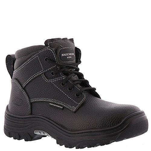 Skechers for Work Men's Burgin-Tarlac Industrial Boot,black embossed leather,10.5 M US