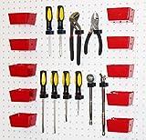WallPeg Plastic Part Bins - Red Pegboard Bin Kit AM 10R-BX