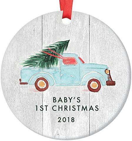 Babys First Christmas Ornament 2019 Newborn Boy Or Girl Baby S 1st Gift Ideas New Baby Blue Pickup Truck Xmas Treefarmhouse Keepsake Amazon Ca Home Kitchen