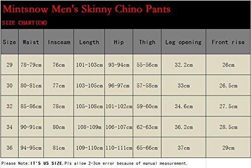 Mintsnow Men's Comfort Army Green Stretch Relaxed-Fit Flat-Front Pant Navy, 32 by Mintsnow (Image #6)
