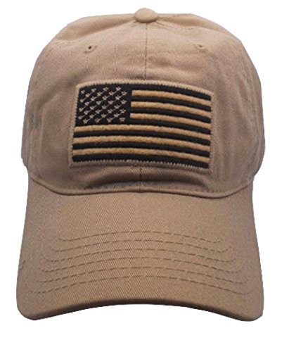 USA American Flag Baseball Cap Military Army Operator Adjustable Hat (Beige)