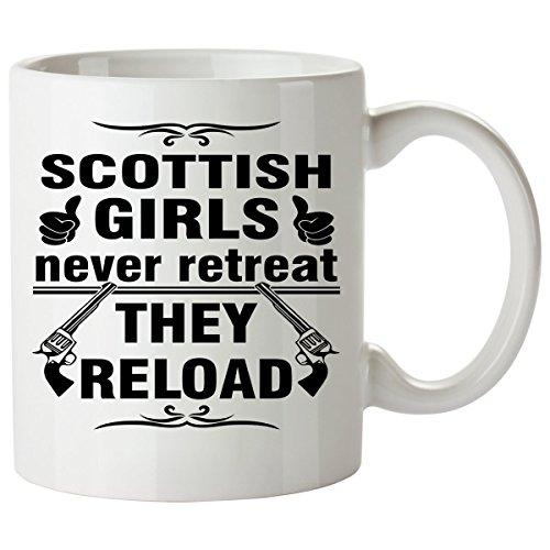 SCOTTISH Coffee Mug 11 Oz - Good Gifts for Girls - Unique Coffee Cup - Decor Decal Souvenirs Memorabilia